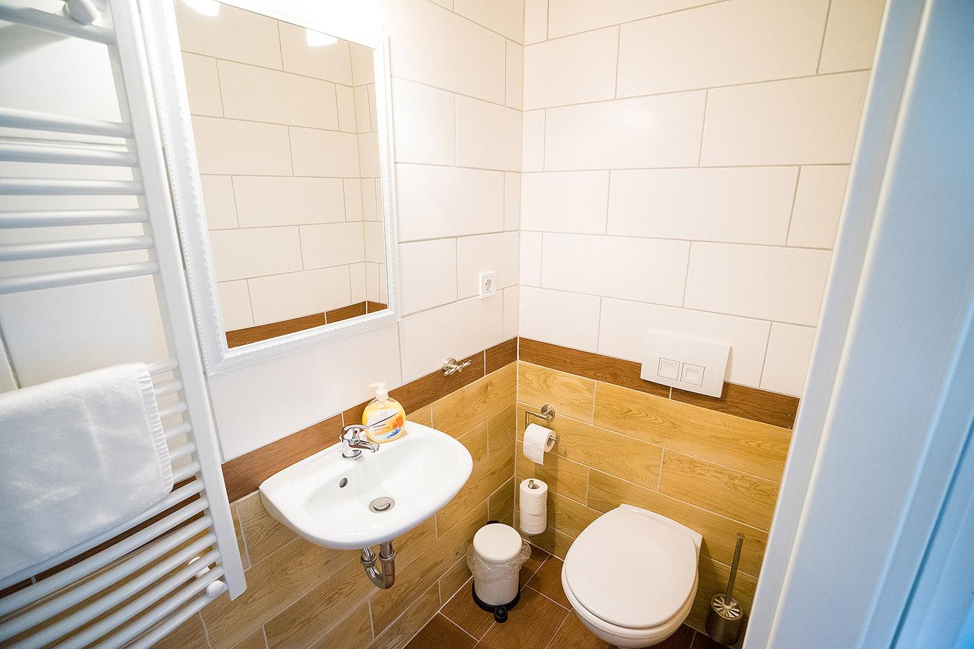 Toilette im Hotel